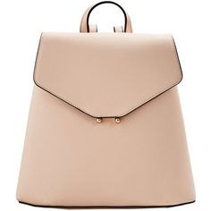MANGO Front lapel backpack (2.335 RUB) ❤ liked on Polyvore featuring bags, backpacks, backpack, purses, сумки, nude, pink bag, metallic backpack, vegan leather bags and faux-leather bags