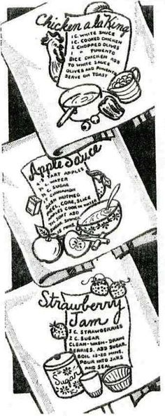 Vintage Embroidery Pattern 7598 Recipes for Dish by BlondiesSpot, $3.99 STRAWBERRY JAM EMBROIDERY