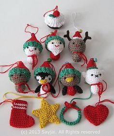 Ravelry: Christmas Cuties Amigurumi Crochet Pattern pattern by Sayjai Thawornsupacharoen: