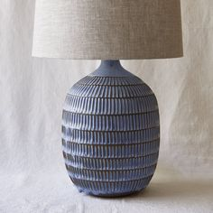 Handmade ceramics and pottery Blue Pottery, Ceramic Pottery, Ceramic Art, Ceramic Lamps, Pottery Patterns, Pottery Ideas, Lampshade Designs, Ceramic Light, Table Lamp Wood