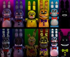 All the bonnies by AbsentedTangent-spooky Bonnies-