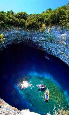 VISIT GREECE| Melissani Cave, #Kefalonia, #Greece #Ionian islands