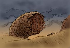 Shai Hulud by Ilya Baranovsky, ~ilya-b on deviantART #dune