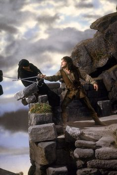 movie with blindfold and sword and rock cliff | Image Credit: Princess Bride image from The Princess Bride