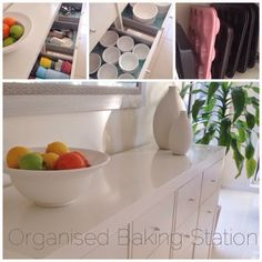 Organise all your baking needs in one place...makes cooking so much quicker and easier! Organised Baking Station! - Sparkles in the Everyday.com