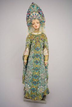 "This is a Russian-inspired doll called the ""Snow Maiden"" but it would be gorgeous as a state costume for the Winter Queen."