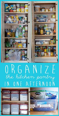 Organize the kitchen pantry in one afternoon by lalakme, via Flickr
