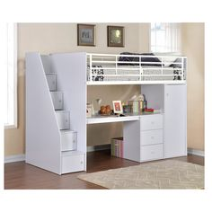 Flintshire Furniture Dakota Single High Sleeper Bed with Workstation