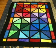 Stained Glass by sewandtellquilts, via Flickr