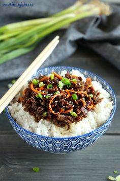 Easy Korean Beef Rice Bowls Minute Meal} - The Busy Baker - Amazing Foods Menu Recipes Healthy Weeknight Meals, Healthy Recipes, Healthy Eating Tips, Cooking Recipes, Healthy Eats, Cooking Ideas, Delicious Recipes, Free Recipes, Tilapia