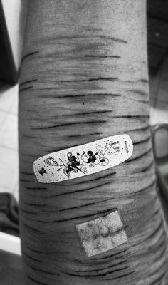 Self harm cuts Band aid