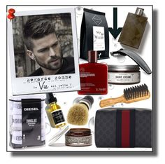 """GROOMING!!!"" by kskafida ❤ liked on Polyvore featuring beauty, Codage, Diesel, Apothecary 87, Prospector Co., Gucci, Oxford Brush Company, Burberry and Bolin Webb"