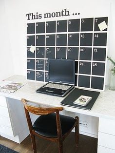 60 Inspired Home Office Design Ideas This diy wall calender is perfect! : 60 Inspired Home Office Design Ideas This diy wall calender is perfect! Wall Calender, Diy Calendar, Chalkboard Calendar, Office Calendar, Calander, Chalkboard Paint, Family Calendar Wall, Paint Calendar, Moon Calendar