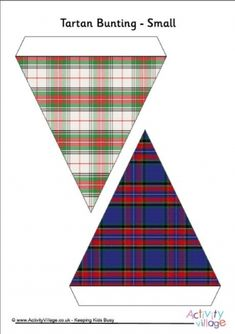 This Fun Tartan Bunting Is Sure To Brighten Up Your Room There Are Eight Pages In Printable Each With A Different Design None Of Which By The Way