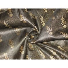 By the Yard Brocade Up to Craft Fabrics Metallic Gold Color, Gold Colour, Brocade Fabric, Pure Silk, Alexander Mcqueen Scarf, Pure Products, 100 Pure, Ebay, Black