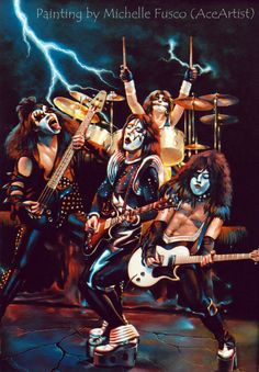 Kiss Artist - your Favs! in KISS Collectibles, Creations & Comics . Kiss Images, Kiss Pictures, Band Pictures, Star Pictures, Star Pics, Metal Music Bands, Heavy Metal Music, Gene Simmons, Paul Stanley