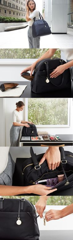 The O.G. is a high-quality lightweight work bag that is designed for the demands of the on-the-go lifestyle. Thoughtfully designed with features to help you stay organized including a built in laptop sleeve, interior pockets, side shoe pocket and back panel suitcase sleeve. #loandsons