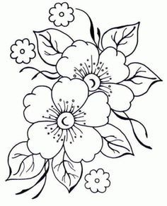 pergamano - Page 2 - Embroidery flower patterns – Imagui: - Embroidery Designs, Embroidery Stitches, Hand Embroidery, Machine Embroidery, Flower Embroidery, Colouring Pages, Adult Coloring Pages, Coloring Books, Free Coloring
