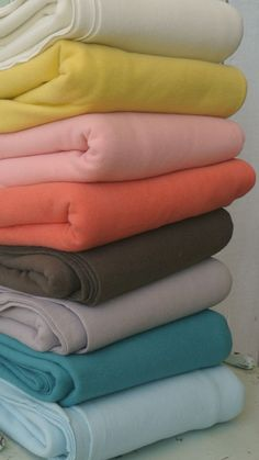 "these organic fleece colors from Birch Organic Fabrics are freaking amazing, also 63"" Wide Width"