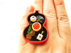 Traditional Japanese Food Sushi Tofu Vegetables Ring