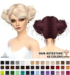Miss Paraply: Hair retexture - Newsea LoveAndKiwi • Sims 4 Downloads