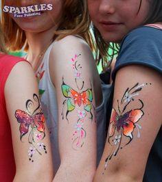 Beautiful Butterfly face paintings. Face Painting Body Art- http://thefairytalefair.wordpress.com/