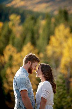 Kananaskis County Engagement Session in the fall // Ashley & Steve via Rocky Mountain Bride // Calgary wedding photographer Tara Whittaker