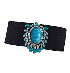 """Tribal Style Bracelet  803-851  Reg. $9.99  Silvertone with faux-turquoise stone and beads. Suede-like cuff with adjustable snap closure, 8 1/4"""" L.     GOOD TO KNOW   All of Avon's jewelry is nickel-free for those with sensitive skin & allergies to nickel."""