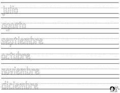 Month of the Year - Writing Practice - Printout - Spanish
