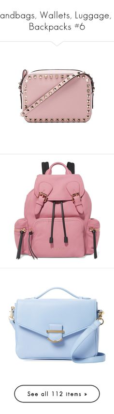"""Handbags, Wallets, Luggage, & Backpacks #6"" by annakennedy70 ❤ liked on Polyvore featuring bags, handbags, shoulder bags, valentino crossbody, shoulder strap handbags, leather purses, shoulder handbags, pink leather purse, backpacks and pink"