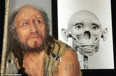 The skeleton of the 'Chancelade Man', measuring 188cm tall, was discovered in 1888 in the south-west of the country with a curved posture, below the floor of a rock shelter. The silicone reconstruction of the 'Chancelade Man' created by artist Elisabeth Daynes A Magdalenian from 12'000-17'000 Bc discovered in the Dordogne region (W France) in 1888