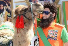 #SachaBaronCohen was accompanied by a camel upon his entrance for the #Cannes Film Festival Via www.zoolz.com