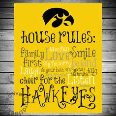 Iowa Hawkeyes House Rules