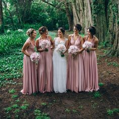Convertible Soft Satin A-Line Bridesmaid Dress, Cheap V-Neck Backless Bridesmaid. - Convertible Soft Satin A-Line Bridesmaid Dress, Cheap V-Neck Backless Bridesmaid Dress, The lo - Backless Bridesmaid Dress, Rose Bridesmaid Dresses, Rose Gold Bridesmaid, Wedding Bridesmaids, Wedding Gowns, Bridesmaid Outfit, Pink Wedding Colors, Wedding Flowers, Making A Wedding Dress