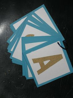 teaching toddlers a,b,c's  - sandpaper letters! super cool!