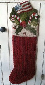 Wool stocking - this one is for display (displays flat), not to stuff.....  But very pretty.
