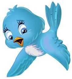 Large Blue Bird PNG Cartoon Clipart