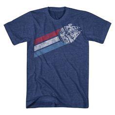 Men's Big & Tall Star Wars Ship T-Shirt Navy Heather