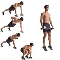 Great at home workout.  Its from Men's Health...but any bad ass chick can do it!