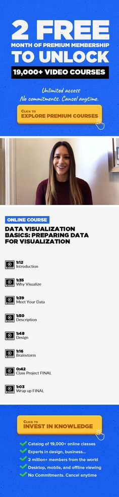 Data Visualization Basics: Preparing Data for Visualization Business, Data Visualization, Visual Storytelling, Big Data, Presentations, Data Analysis, Business Skills, Business Analytics #onlinecourses #onlinedegreeuniversitiesinusa #onlinecoursescolleges   Data visualization is an important tool for any analyst to master. Visual data storytelling can uncover insights, exemplify arguments, and cra...