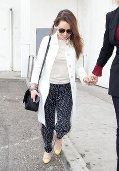 Emilia Clarke Tweed Coat