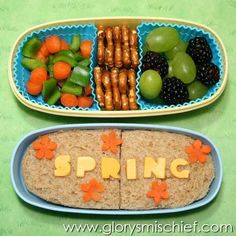 First Day of Spring Kids School Lunch