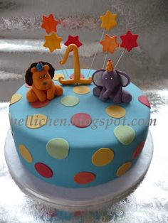 Birthday cake with Party-animals, Geburtstagstorte mit Party-Tieren