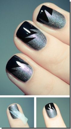 6 Unique Nail Designs With Adhesive Tape | She Look Book