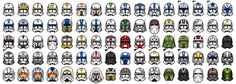 Star Wars The Clone Wars: Phase II Clonetrooper Helmets Star Wars Clone Wars, Star Wars Art, Clone Trooper Helmet, Star Wars Helmet, Guerra Dos Clones, Microsoft Paint, Lego Pokemon, Galactic Republic, Star Wars Pictures