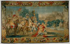 The Crusaders Reach Jerusalem (from a set of Scenes from Gerusalemme Liberata) Designed by Domenico Paradisi, c.1689-93, woven 1732-39.