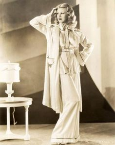 Gorgeous PJ & Robe ensemble from the 1940's. So elegant!  www.foreveryminute.com  Luxury Silk Lounge and Sleepwear