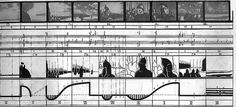 "Alexander Nevsky and Battleship Potëmkin. More on Eisenstein. More on the soviet ""montage"" theory. Bauhaus, Sequence Diagram, Graphic Score, Bernard Tschumi, Landscape Diagram, Urban Analysis, Architecture Drawings, Architecture Diagrams, Architecture Portfolio"