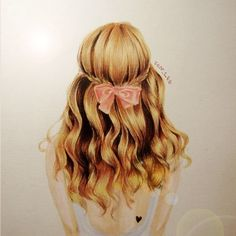 Hair illustration, drawing / Capelli, illustrazione, disegno - by Ion Lee