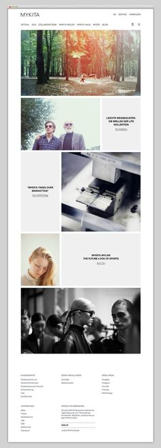 What's great about this website is how powerful the images and typography stand out even though it's very minimal. The gird and the hierarchy of the layout is just beautiful; it's chic classy and almost high-fashion.